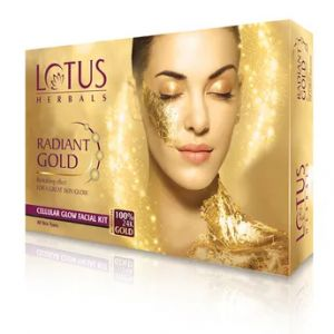 Lotus Herbals Radiant Gold Cellular Glow Facial Kit (Single Use)