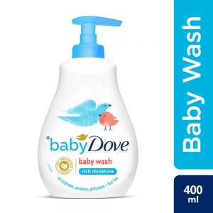 Baby Dove Rich Moisture Hair to Toe Baby Wash, 400 ml
