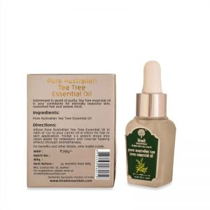 Khadi Essentials Pure Australian Tea Tree Essential Oil for Skin, Hair & Aromatherapy, Anti-Acne