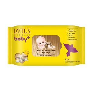 Lotus Herbals Baby + Gentle & Refereshing Baby Wipes