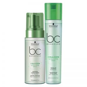 Schwarzkopf Professional Bonacure Collagen Volume Boost Whipped Conditioner + Micellar Shampoo