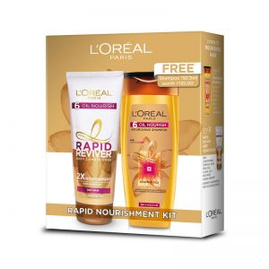 L'Oreal Paris 6 Oil Nourish Rapid Reviver Conditioner with FREE Shampoo