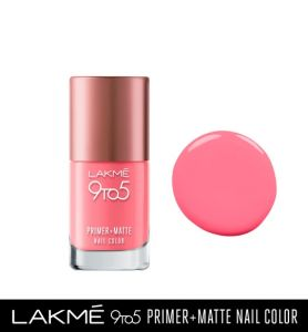 lakme 9to5 primer + matte nail color