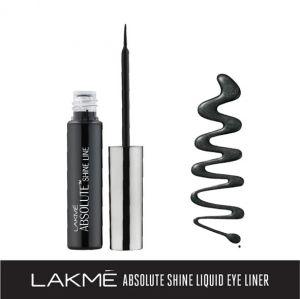 lakme absolute shine liquid eye liner, black