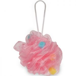 Gorgio Professional Peach Pink Loofah Infused With Foaming Cube Color May Vary