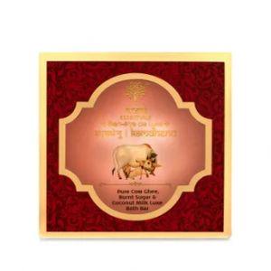 Khadi Essentials Kamdhenu - Pure Cow Ghee, Burnt Sugar & Coconut Milk Luxe Bath Bar