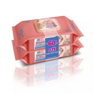 Johnson's Baby Skincare Wipes 80s Pack of 2 Super Saver Pack