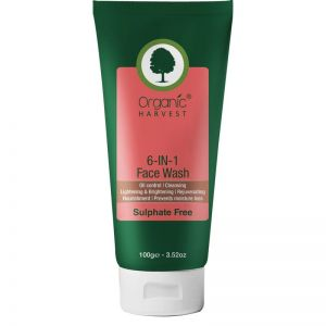 Organic Harvest Sulphate Free 6-In-1 Face Wash